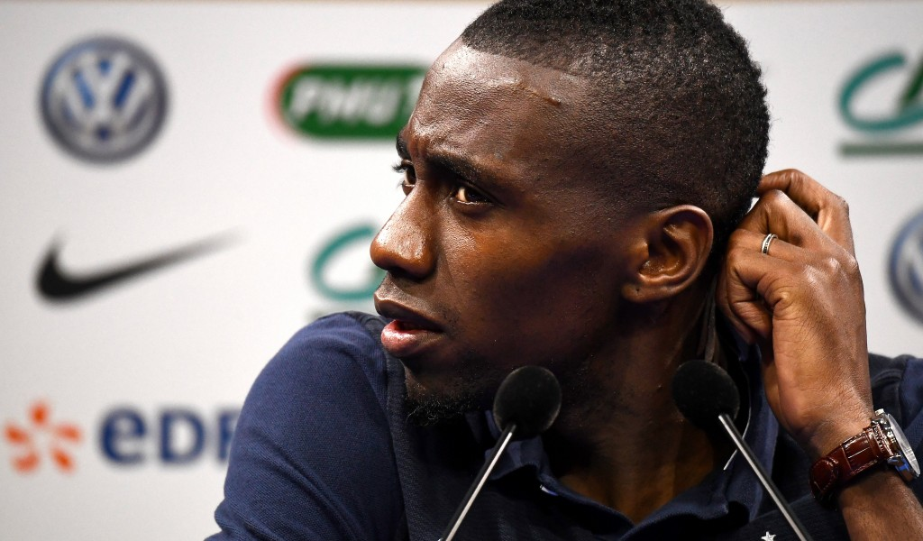 France's midfielder Blaise Matuidi gives a press conference in Clairefontaine-en-Yvelines on July 8, 2016, two days ahead of the Euro 2016 final football match between Portugal and France. / AFP / FRANCK FIFE (Photo credit should read FRANCK FIFE/AFP/Getty Images)