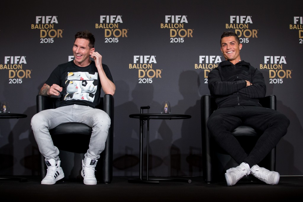 Messi and Ronaldo are likely to have a good laugh upon hearing Sanchez' comments of him being on the same level as them. (Picture Courtesy - AFP/Getty Images)