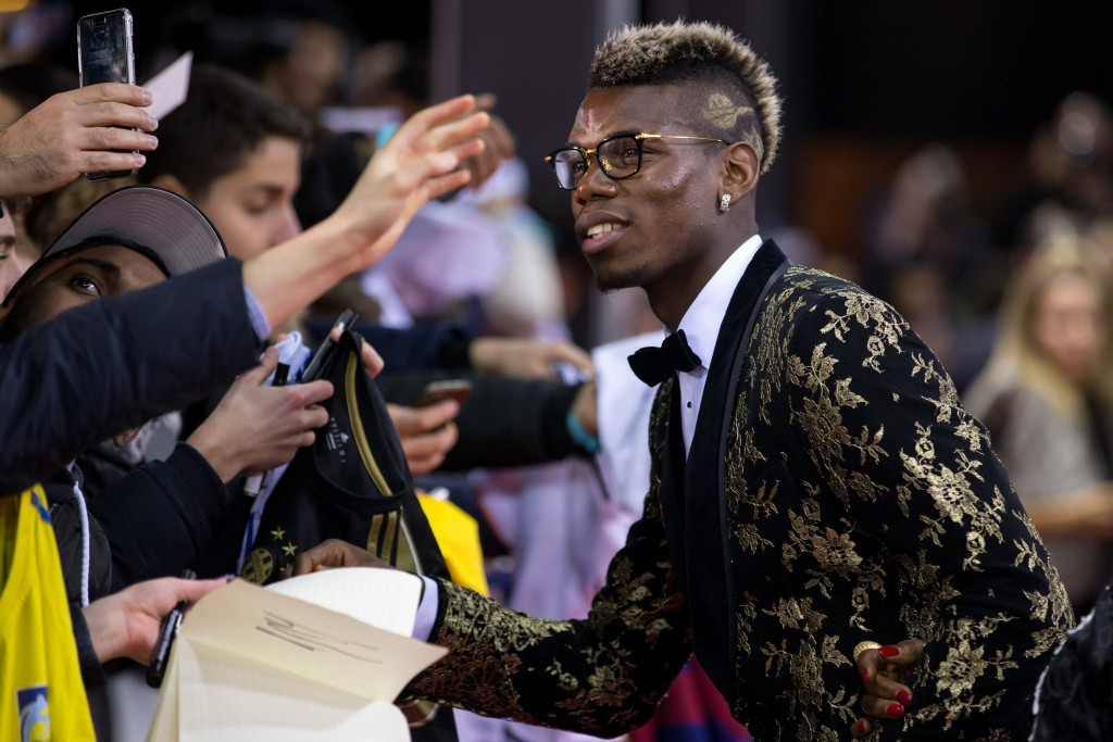 ZURICH, SWITZERLAND - JANUARY 11: Paul Pogba arrives for the FIFA Ballon d'Or Gala 2015 at the Kongresshaus on January 11, 2016 in Zurich, Switzerland. (Photo by Philipp Schmidli/Getty Images)