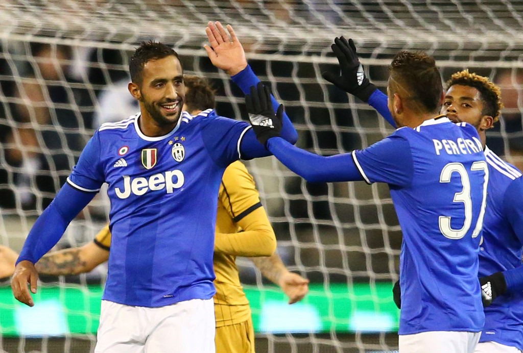 The two were former teammates at Roma and seems to have re-established their chemistry instantly as Pjanic found Benatia open who scored Juve's second goal of the match. (Picture Courtesy - AFP/Getty Images)