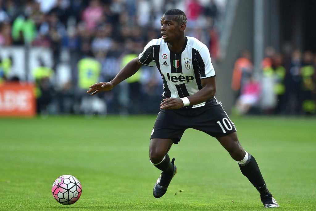 TURIN, ITALY - MAY 14: Paul Pogba of Juventus FC in action during the Serie A match between Juventus FC and UC Sampdoria at Juventus Arena on May 14, 2016 in Turin, Italy. (Photo by Valerio Pennicino/Getty Images)