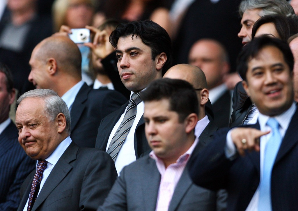 MANCHESTER, UNITED KINGDOM - SEPTEMBER 13: Kia Joorabchian looks on during the Premier League match between Manchester City and Chelsea at The City of Manchester Stadium on September 13, 2008 in Manchester, England. (Photo by Alex Livesey/Getty Images)