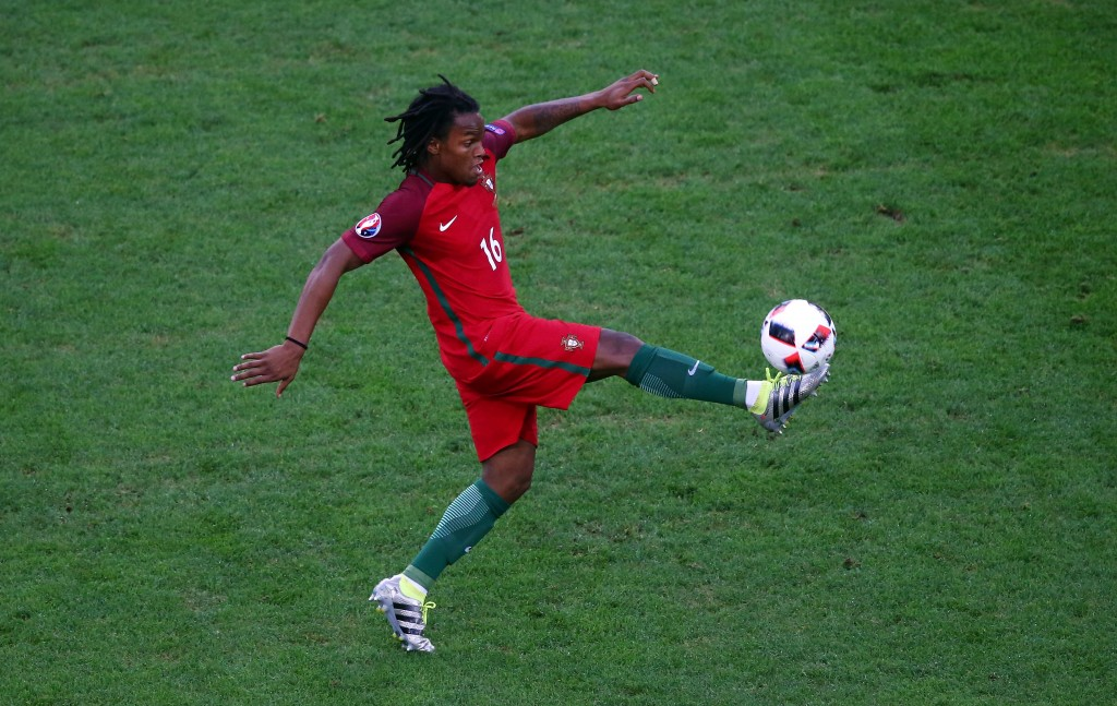 MARSEILLE, FRANCE - JUNE 30: Renato Sanches of Portugal in action during the UEFA EURO 2016 quarter final match between Poland and Portugal at Stade Velodrome on June 30, 2016 in Marseille, France. (Photo by Alex Livesey/Getty Images)