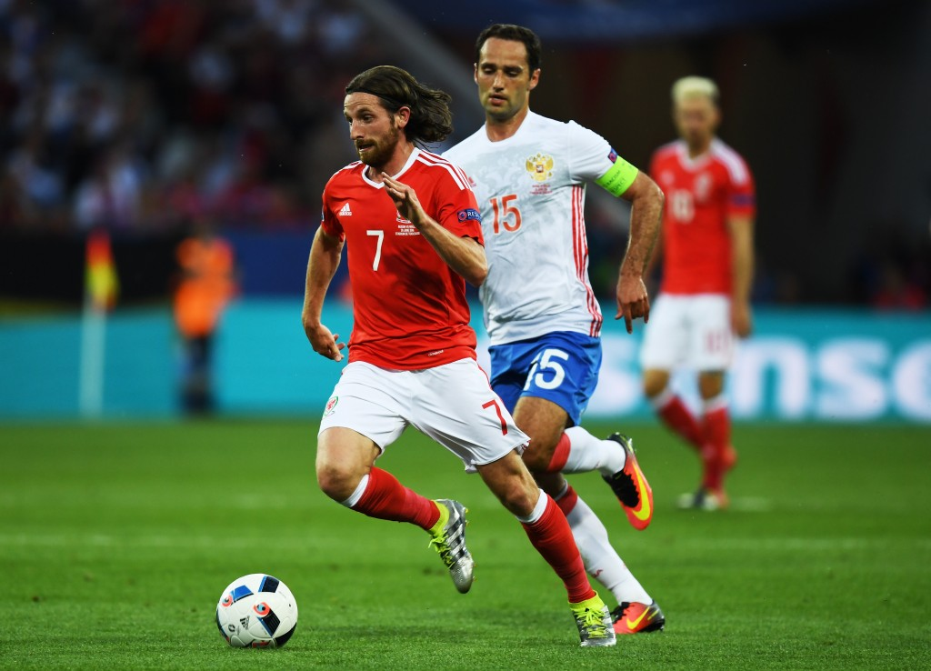 Joe Allen is set to be a key figure in the fixture and Chris Coleman will be hoping the Welsh Pirlo weaves his magic on the pitch. (Picture Courtesy -Dennis Grombkowski/Getty Images)