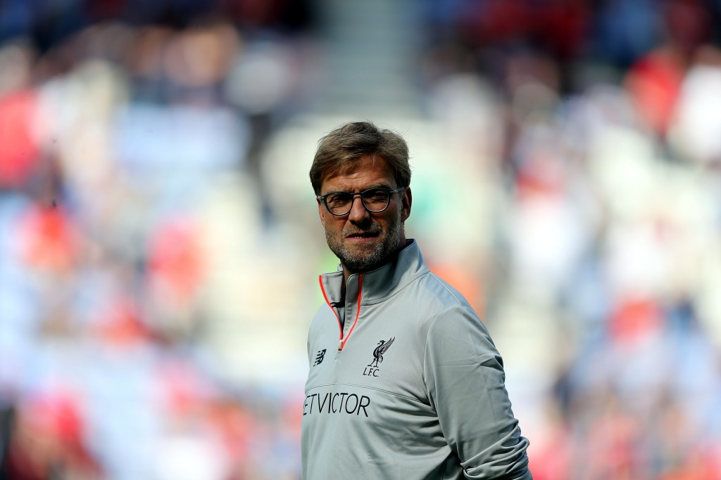 WIGAN, ENGLAND - JULY 17: Jurgen Klopp manager of Liverpool during the Pre-Season Friendly match between Wigan Athletic and Liverpool at JJB Stadium on July 17, 2016 in Wigan, England. (Photo by Nigel Roddis/Getty Images)