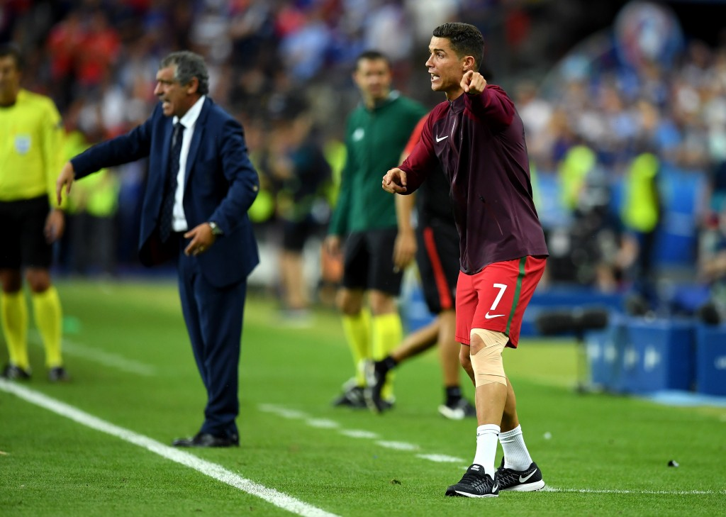 PARIS, FRANCE - JULY 10: Cristiano Ronaldo of Portugal reacts during the UEFA EURO 2016 Final match between Portugal and France at Stade de France on July 10, 2016 in Paris, France. (Photo by Matthias Hangst/Getty Images)