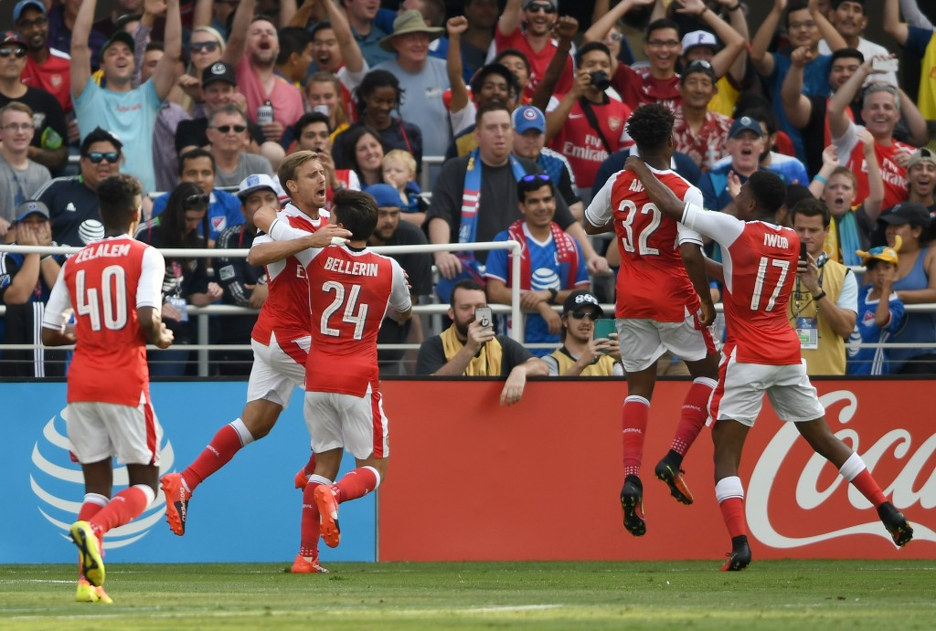 Arsenal's attack could very well have a young and dynamic look this season. (Picture Courtesy - AFP/Getty Images)