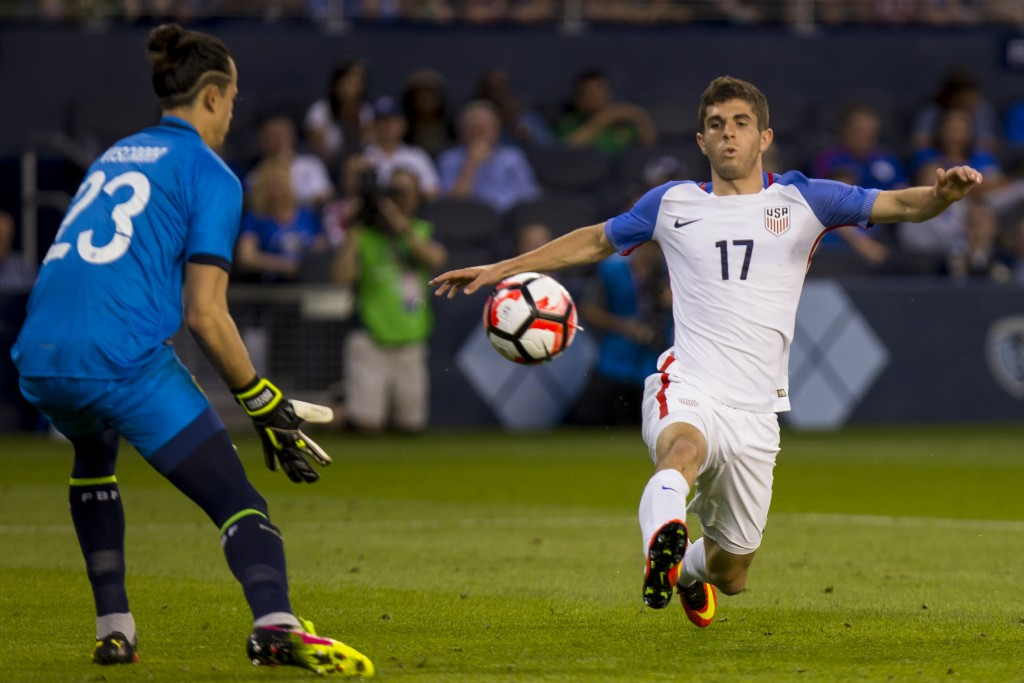 At 17, Pulisic became the youngest goalscorer for USA in the modern era by scoring in a friendly against Bolivia. (Picture Courtesy - AFP/Getty Images)