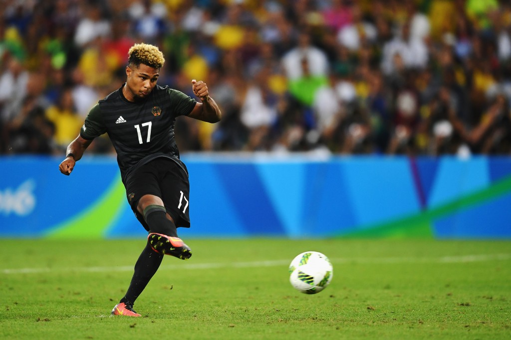 Serge Gnabry has attracted attention from, practically, the whole of Bundesliga with his performances in Rio as it is looking certain that the player is likely to go out on loan. (Picture Courtesy - AFP/Getty Images)