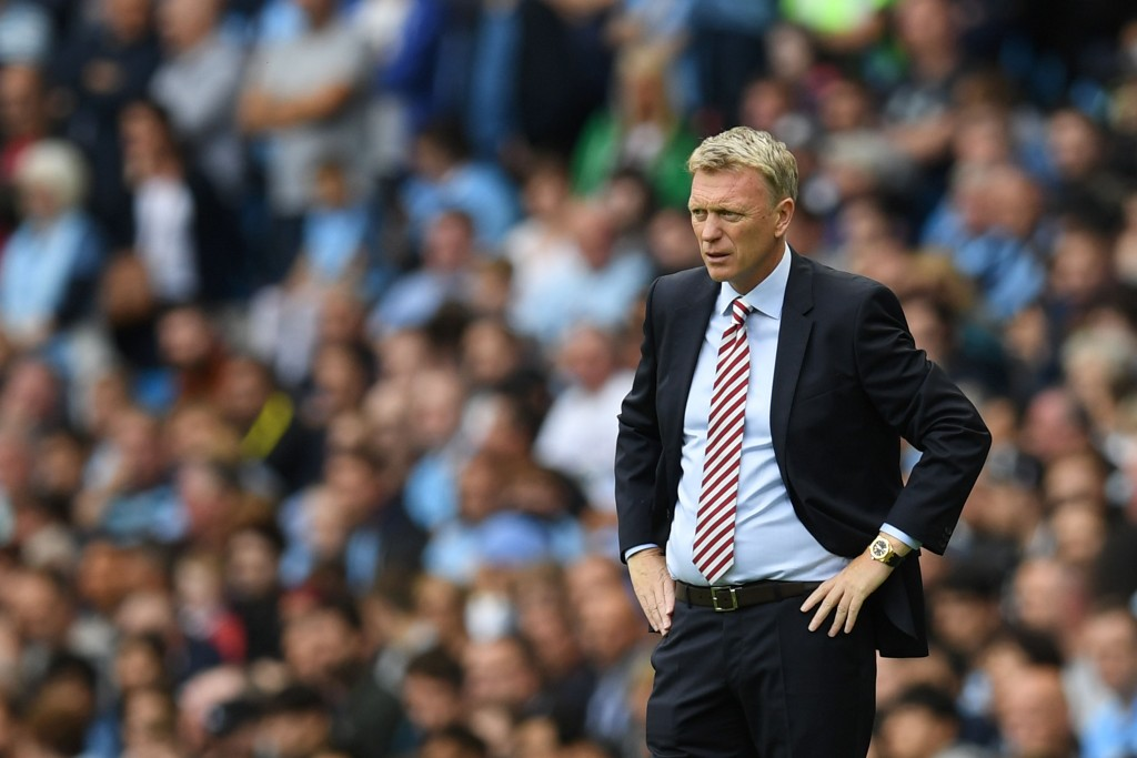 Sunderland's Scottish manager David Moyes watches from the touchline during the English Premier League football match between Manchester City and Sunderland at the Etihad Stadium in Manchester, north west England, on August 13, 2016.(Picture Courtesy - AFP/Getty Images)