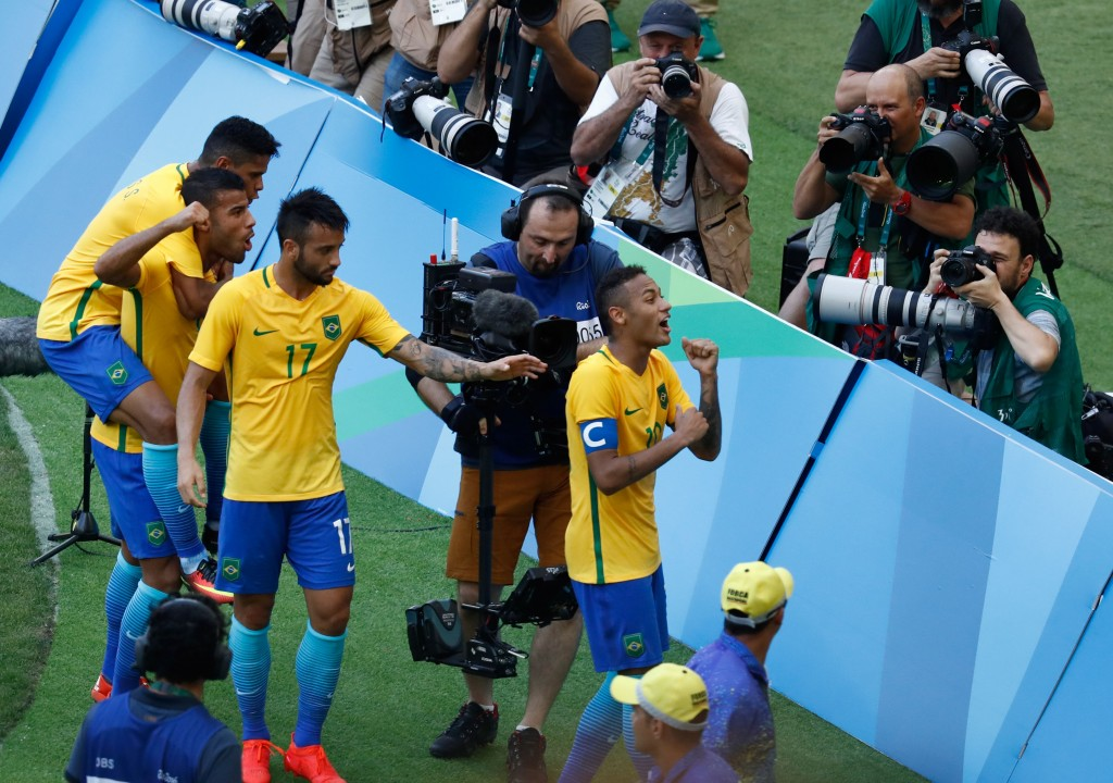 Neymar and Co. are likely to prevail and capture a first Olympic gold for their nation. (Picture Courtesy - AFP/Getty Images)