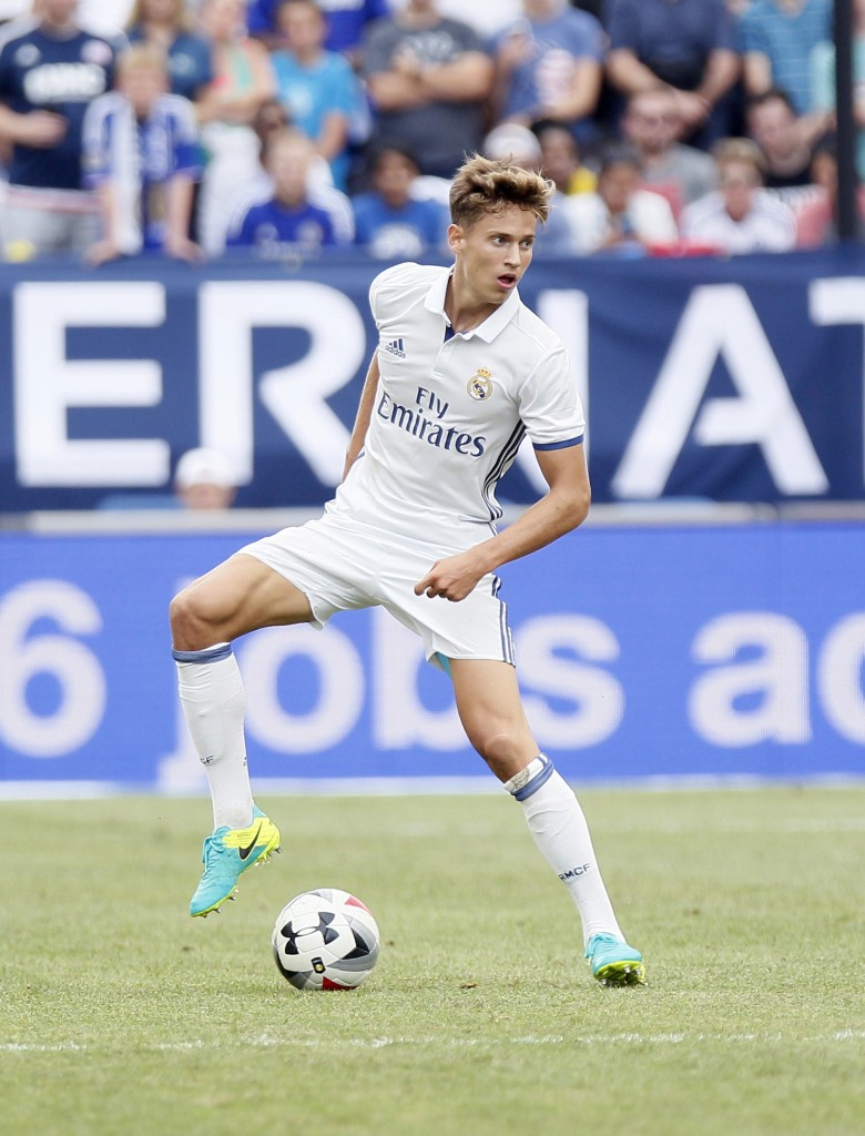 ANN ARBOR, MI - JULY 30: Martin Odegaard #26 of Real Madrid looks for a shot against Chelsea at Michigan Stadium on July 30, 2016 in Ann Arbor, Michigan. (Photo by Duane Burleson/Getty Images)