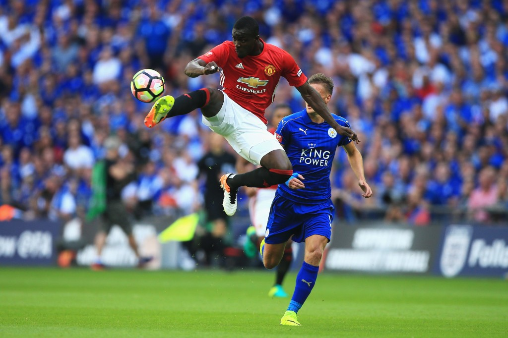 Eric Bailly of Manchester United controls the ball in mid air during The FA Community Shield match between Leicester City and Manchester United at Wembley Stadium on August 7, 2016 in London, England. (Photo by Ben Hoskins/Getty Images)