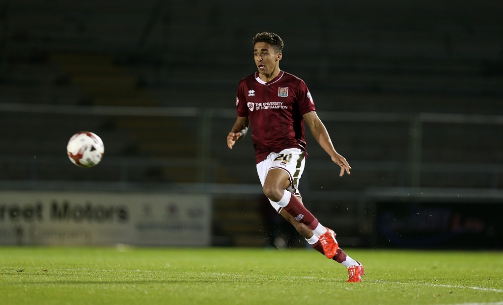 Dominic Calvert-Lewin impressed during his loan stint at League Two side Northampton and could be in line for a move to the highest tier of English football with Manchester United and Everton interested in the player. (Picture Courtesy - AFP/Getty Images)