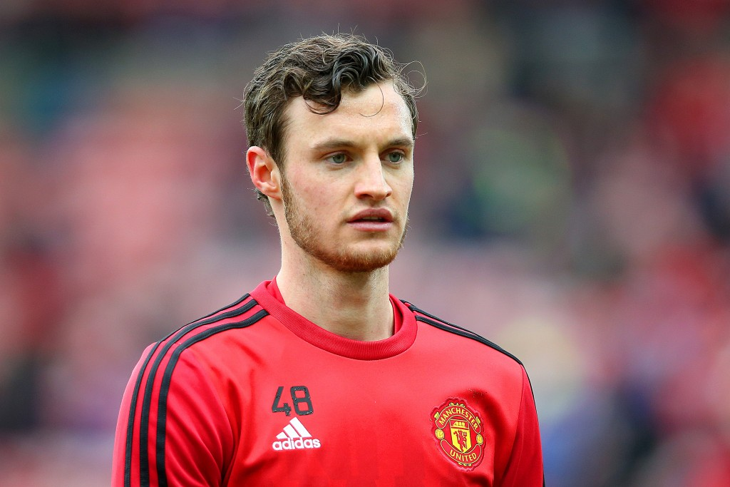 Will Keane of Manchester United is seen during the warm up prior to the Barclays Premier League match between Sunderland and Manchester United at the Stadium of Light on February 13, 2016 in Sunderland, England. (Photo by Ian MacNicol/Getty Images)