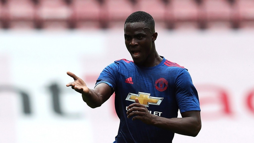 WIGAN, ENGLAND - JULY 16: Eric Bailly of Manchester United in action during the pre season friendly match between Wigan Athletic and Manchester United at the JJB Stadium on July 16, 2016 in Wigan, England. (Photo by Chris Brunskill/Getty Images)