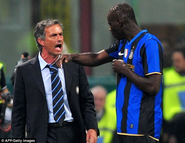 Mario Balotelli and Jose Mourinho shared some controversial moments at Inter Milan