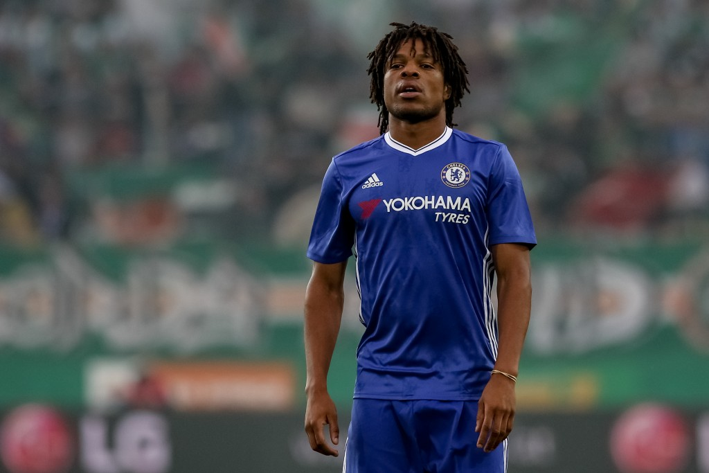 VIENNA, AUSTRIA - JULY 16: Loic Remy of Chelsea in action during an friendly match between SK Rapid Vienna and Chelsea F.C. at Allianz Stadion on July 16, 2016 in Vienna, Austria. (Photo by Matej Divizna/Getty Images)