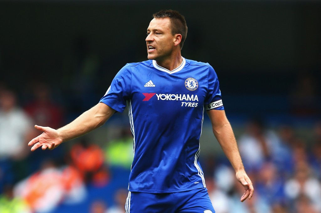 LONDON, ENGLAND - AUGUST 27: John Terry of Chelsea in action during the Premier League match between Chelsea and Burnley at Stamford Bridge on August 27, 2016 in London, England. (Photo by Steve Bardens/Getty Images)