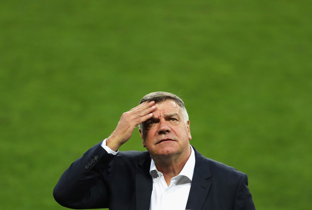 TRNAVA, SLOVAKIA - SEPTEMBER 03: Sam Allardyce, manager of England looks on as he inspects the pitch prior to the FIFA World Cup Qualifying Group F match against Slovakia at City Arena on September 3, 2016 in Trnava, Slovakia. (Photo by Christopher Lee/Getty Images)