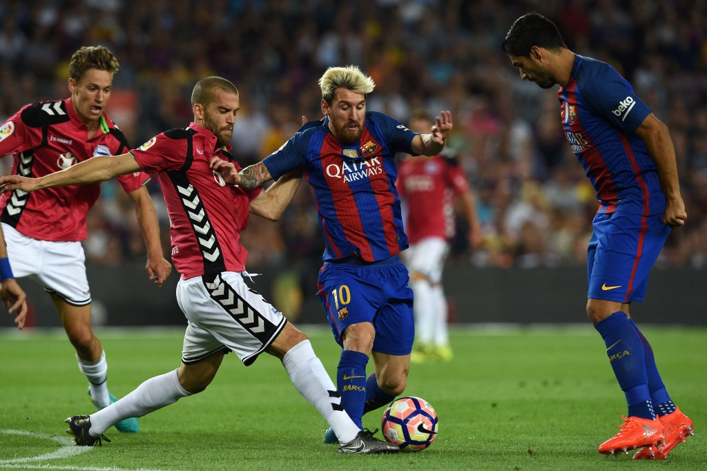 One wonders if Alaves had been able to secure the win had Messi and Suarez started the game and played the whole 90. (Picture Courtesy - AFP/Getty Images)