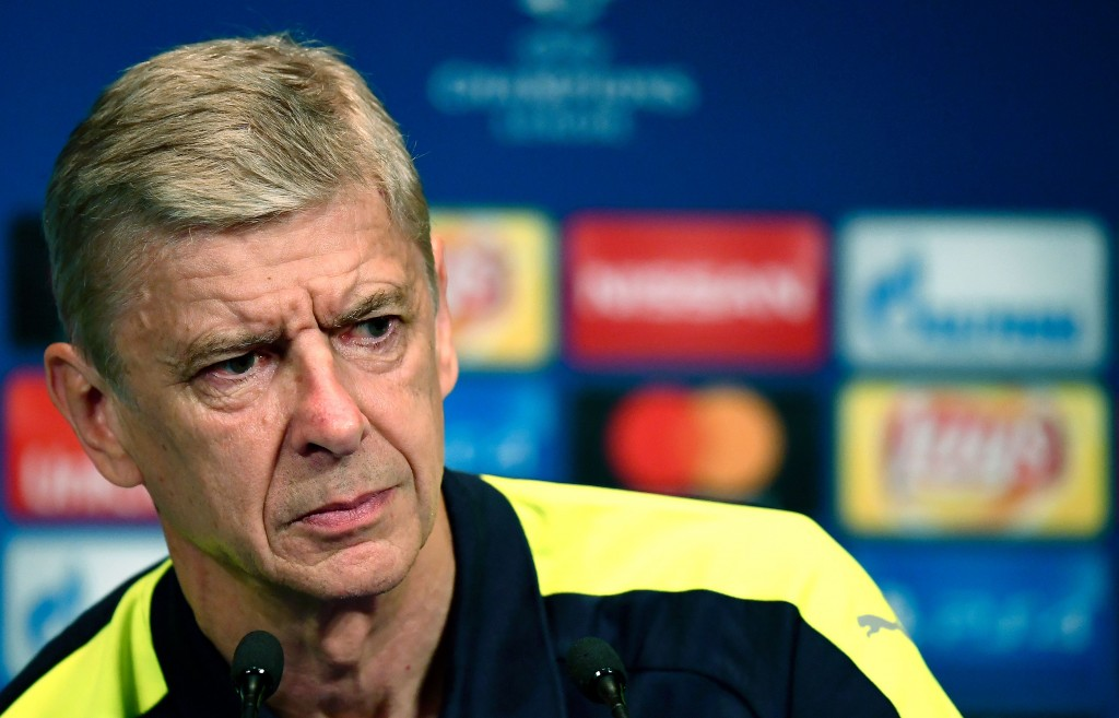 Arsenal's French manager Arsene Wenger gives a press conference on the eve of the team's UEFA Champions League football match against Paris Saint-Germain (PSG), on September 12, 2016 at the Parc des Princes stadium in Paris. / AFP / FRANCK FIFE