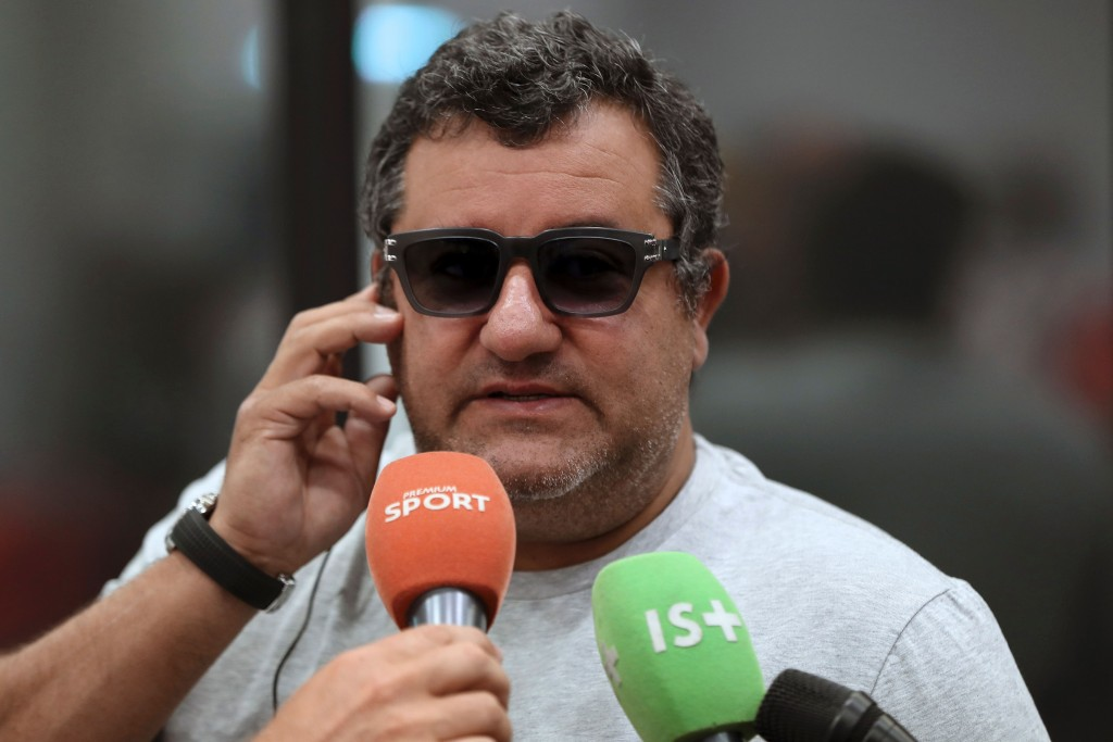 Mino Raiola has left Ole Gunnar Solskjaer and Manchester United fans frustrated with his ways. (Photo by Valery Hache/AFP/Getty Images)