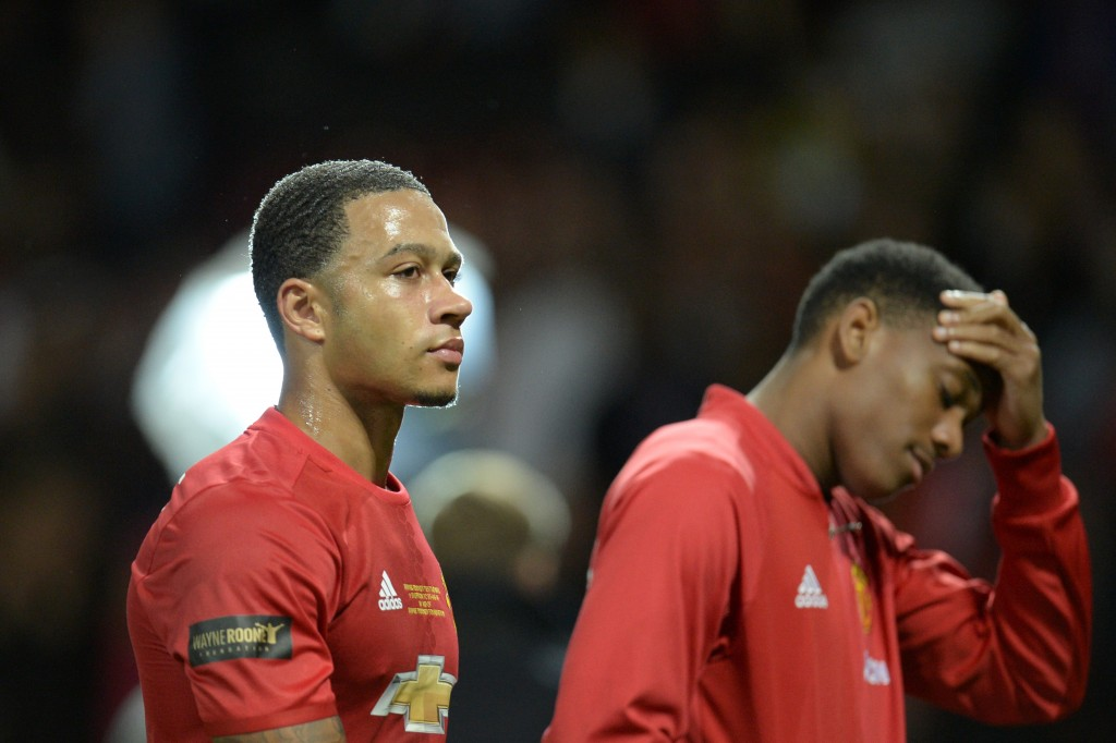 With Martial unable to latch on to a permanent spot under Mourinho, Memphis can still become an integral part of the first-team setup at United. (Picture Courtesy - AFP/Getty Images)