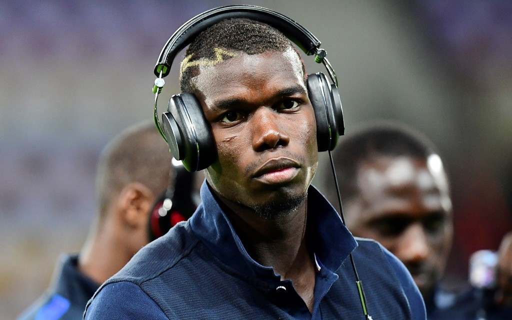 France's midfielder Paul Pogba is pictured before the FIFA World Cup 2018 qualifying football match Belarus vs France on September 6, 2016 at the Borisov Arena in Borisov. (Photo by Franck Fife/AFP/Getty Images)