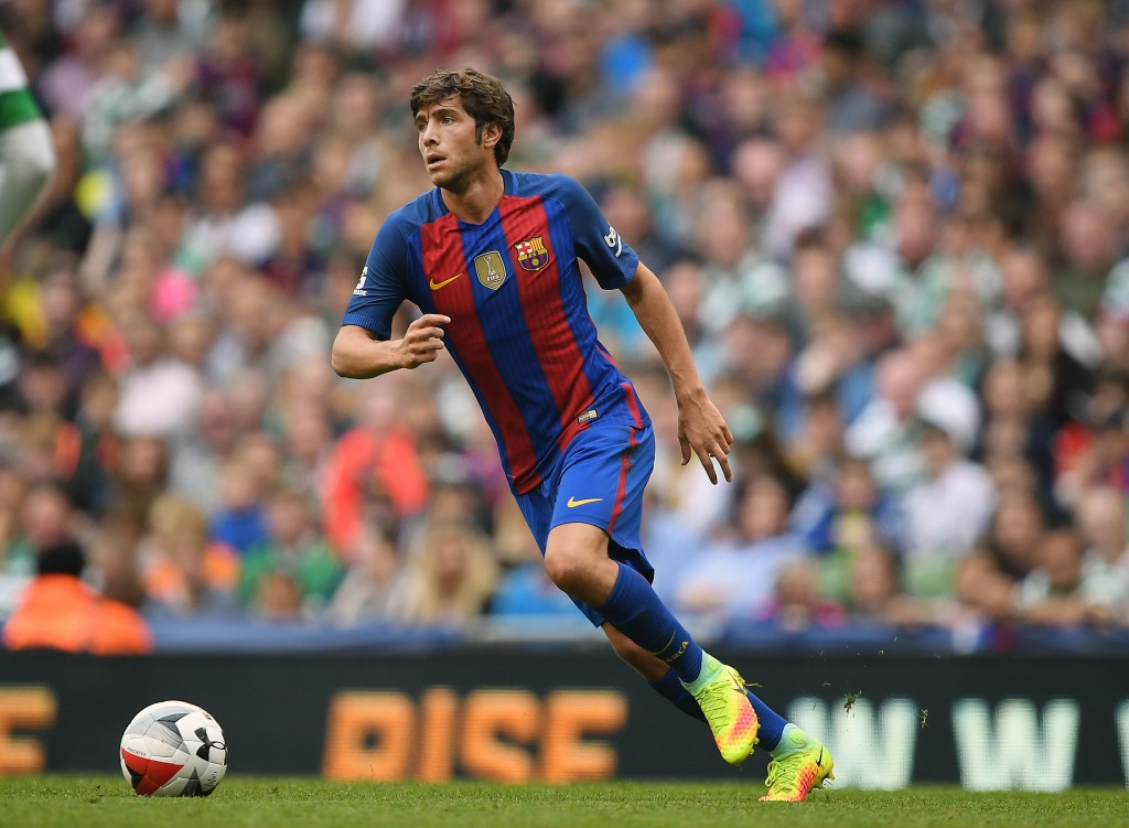 DUBLIN, IRELAND - JULY 30: Sergi Roberto of Barcelona during the International Champions Cup series match between Barcelona and Celtic at Aviva Stadium on July 30, 2016 in Dublin, Ireland. (Photo by Charles McQuillan/Getty Images)