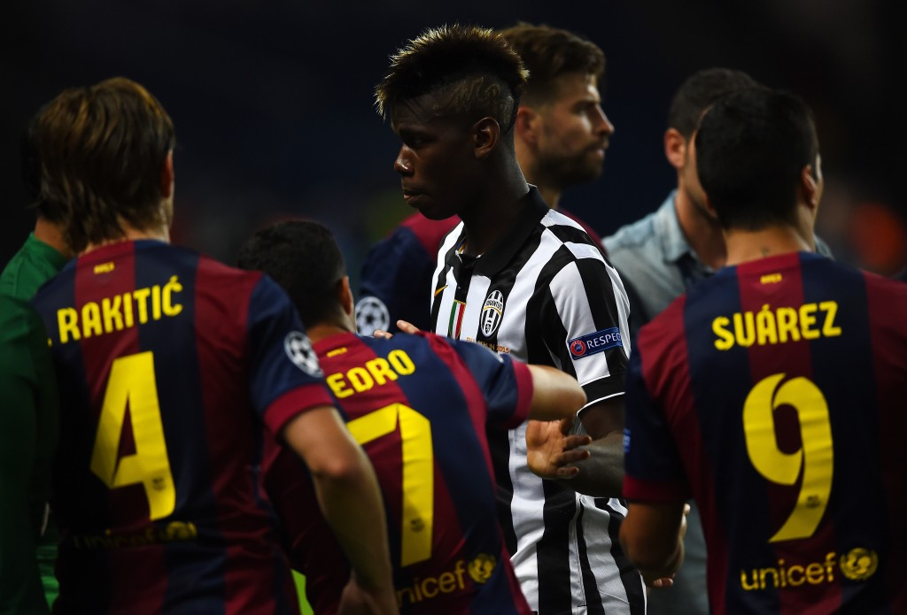 Paul Pogba could have very well ended up playing alongside Messi, Neymar and Suarez, revealed Albert Soler. (Picture Courtesy - AFP/Getty Images)