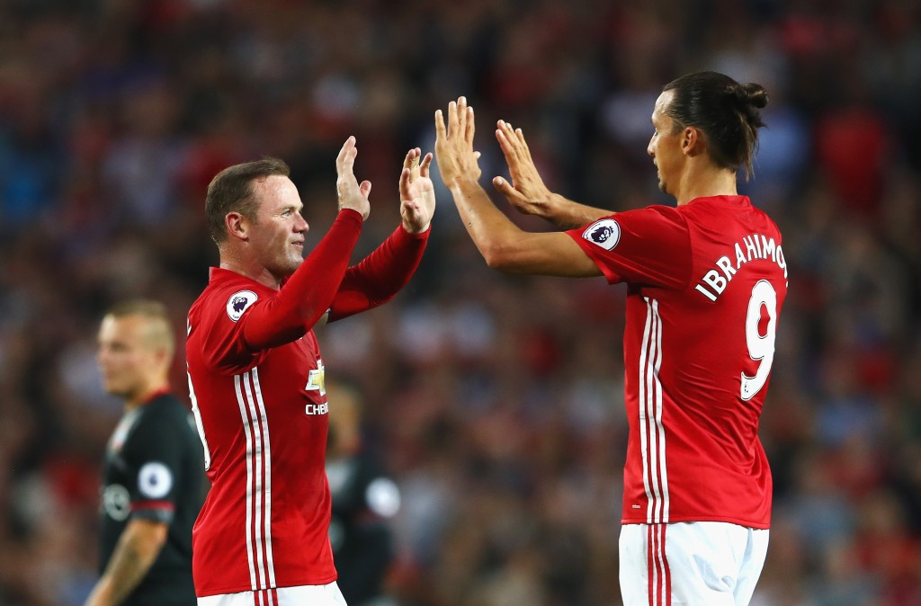 Zlatan and Rooney would need to swap places at times according to Mourinho's tactics to partner Rashford. (Picture Courtesy - AFP/Getty Images)