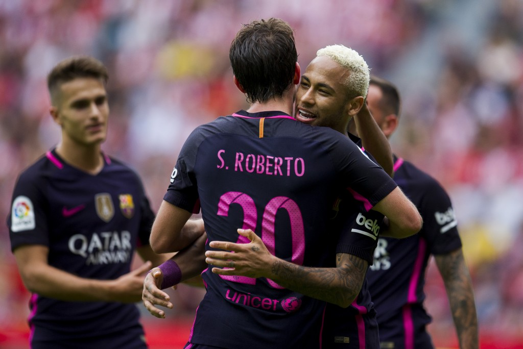Sergi Roberto has earned plaudits for his performance along with the respect of his teammates and his form has attracted the interest of Chelsea and Manchester City among others. (Picture Courtesy - AFP/Getty Images)