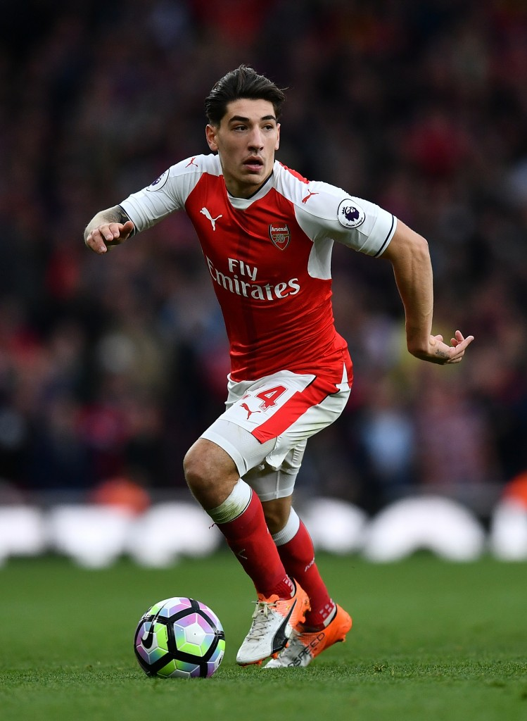 LONDON, ENGLAND - OCTOBER 22: Hector Bellerin of Arsenal in action during the Premier League match between Arsenal and Middlesbrough at The Emirates Stadium on October 22, 2016 in London, England. (Photo by Dan Mullan/Getty Images)
