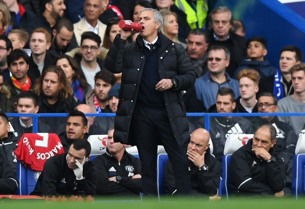 LONDON, ENGLAND - OCTOBER 23: Jose Mourinho, Manager of Manchester United looks on during the Premier League match between Chelsea and Manchester United at Stamford Bridge on October 23, 2016 in London, England. (Photo by Shaun Botterill/Getty Images)