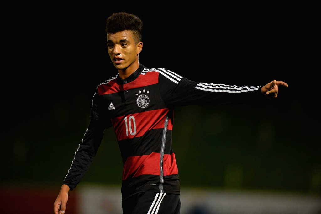 BURTON-UPON-TRENT, ENGLAND - NOVEMBER 18: Timothy Tillman of Germany during the U17s International Friendly match between England U17 and Germany U17 at St Georges Park on November 18, 2015 in Burton-upon-Trent, England. (Photo by Tony Marshall/Getty Images)