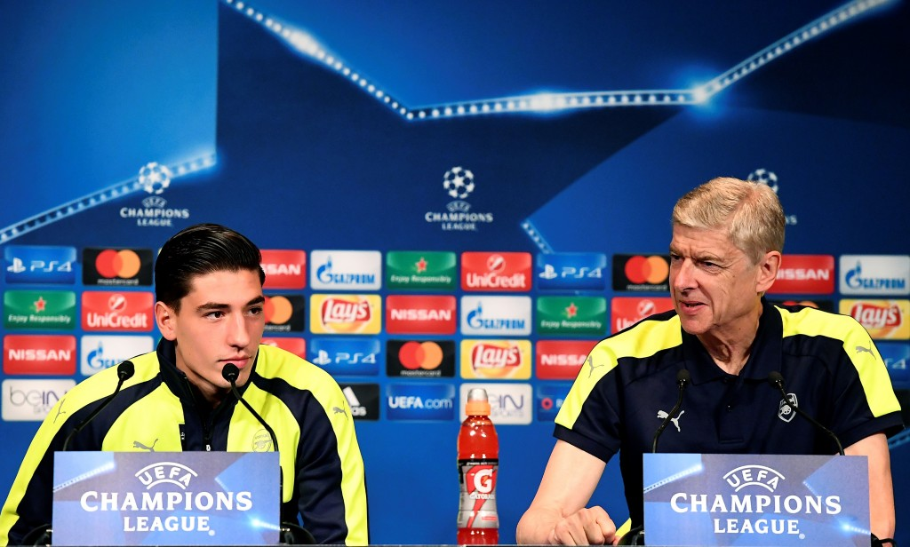 Arsene Wenger has played a major role in Bellerin's development and the Frenchman would hope the 21-year-old repays the faith by opting to stay at Arsenal over a move to Barcelona and Man City. (Picture Courtesy - AFP/Getty Images)