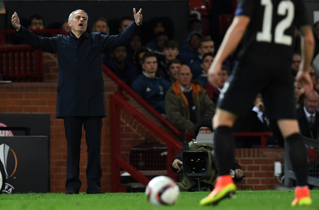 Jose Mourinho was also visibly unimpressed by some of the players from Zorya as they chose to fall down too easily at times. (Picture Courtesy - AFP/Getty Images)