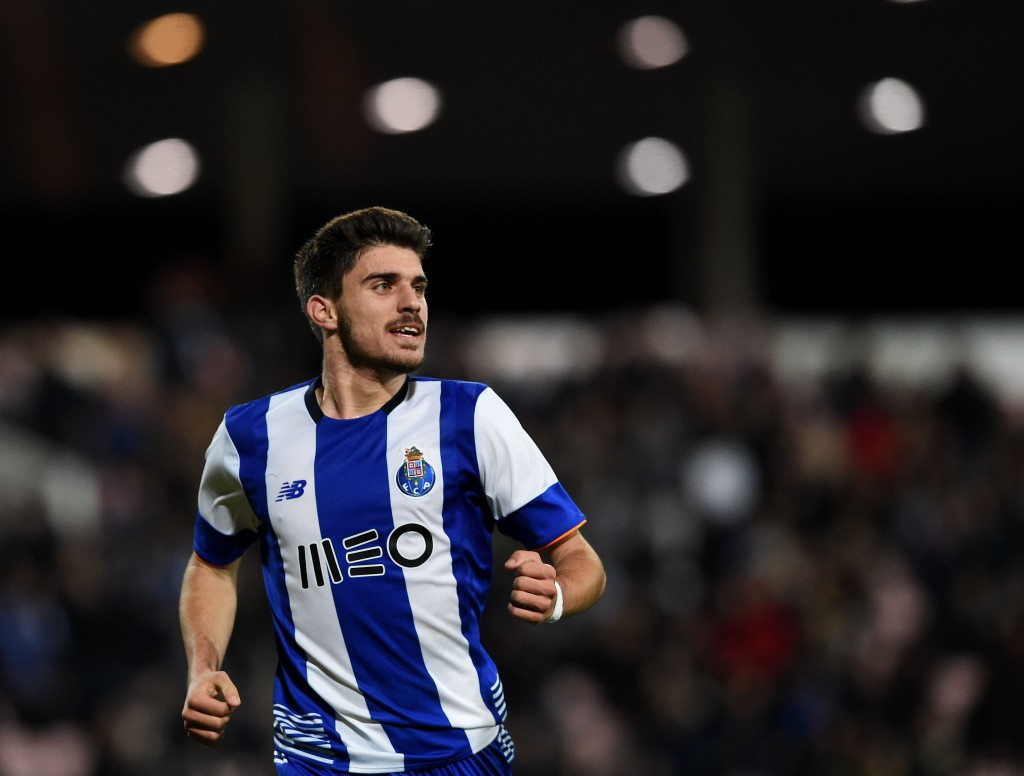 Porto's midfielder Ruben Neves celebrates a goal during the Portuguese Cup semi-final football match Gil Vicente FC vs FC Porto at the Barcelos City stadium in Barcelos on February 3, 2016. AFP PHOTO/ FRANCISCO LEONG / AFP / FRANCISCO LEONG (Photo credit should read FRANCISCO LEONG/AFP/Getty Images)