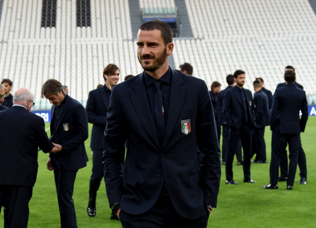 TURIN, ITALY - OCTOBER 05: Leonardo Bonucci of Italy attends prior to the press conference at Juventus Stadium on October 5, 2016 in Turin, Italy. (Photo by Claudio Villa/Getty Images)