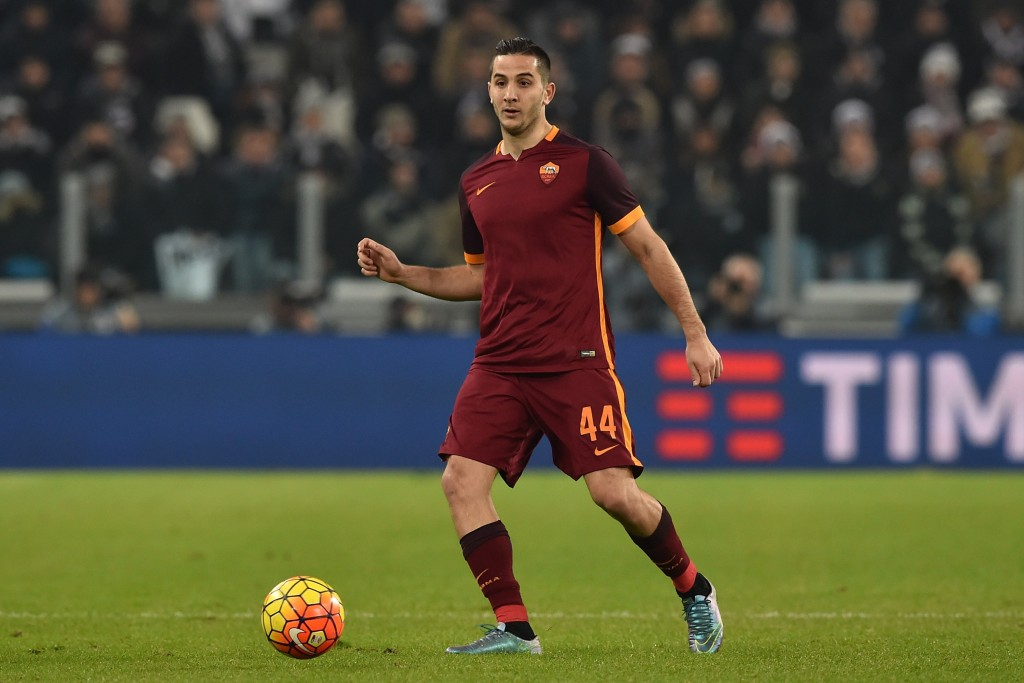 TURIN, ITALY - JANUARY 24: Konstantinos Manolas of AS Roma in action during the Serie A match between Juventus FC and AS Roma at Juventus Arena on January 24, 2016 in Turin, Italy. (Photo by Valerio Pennicino/Getty Images)