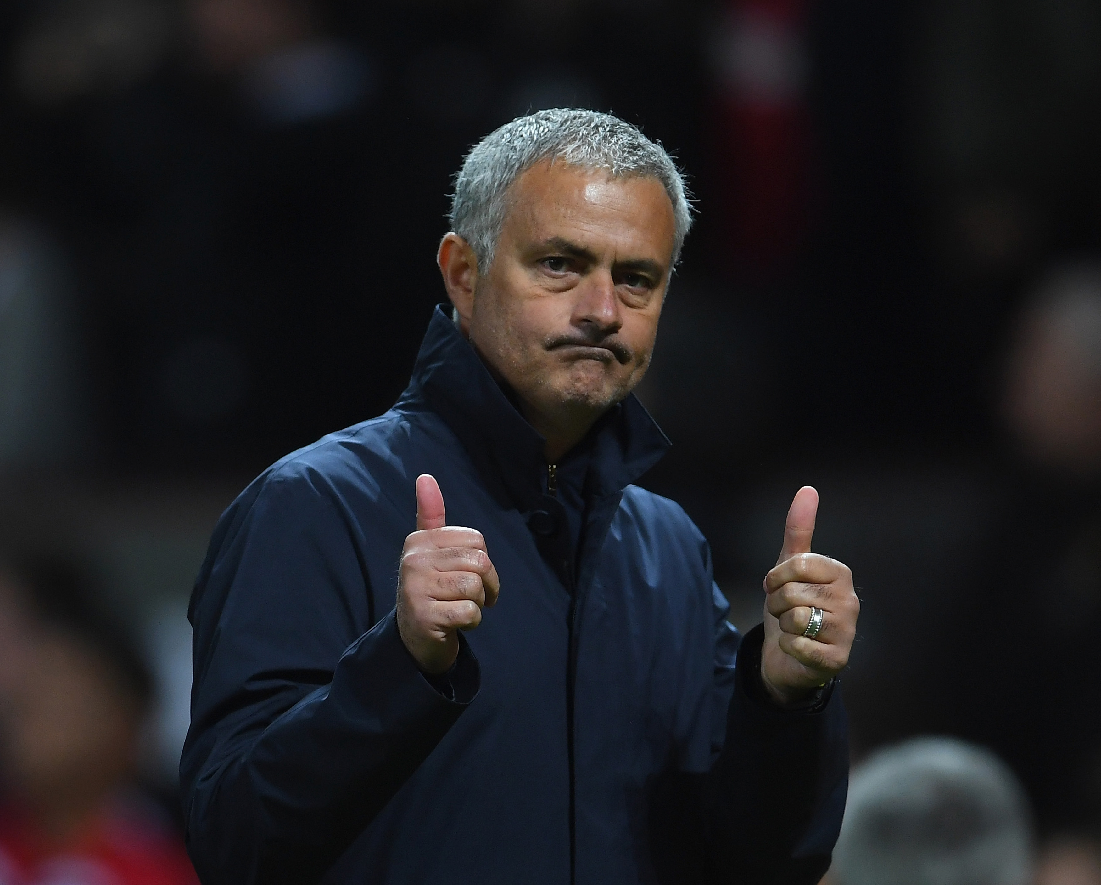Jose Mourinho heaped praises on the Old Trafford faithful (Photo courtesy Laurence Griffiths/Getty Images)