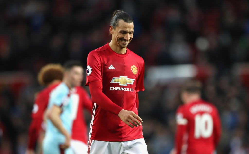 MANCHESTER, ENGLAND - OCTOBER 29: Zlatan Ibrahimovic of Manchester United is dejected after the final whistle during the Premier League match between Manchester United and Burnley at Old Trafford on October 29, 2016 in Manchester, England. (Photo by Mark Robinson/Getty Images)