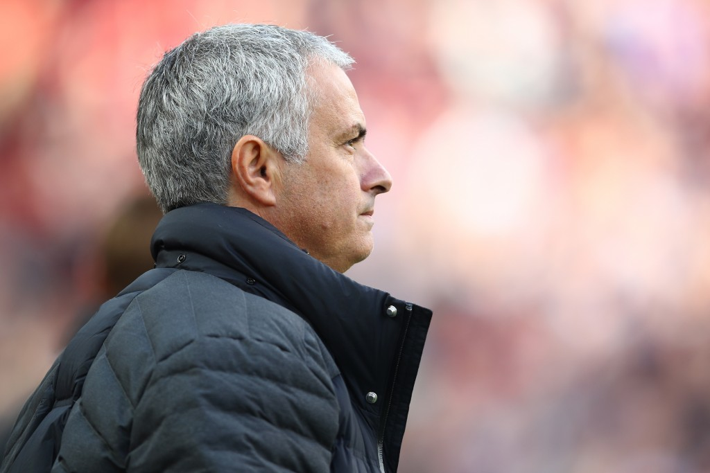 MANCHESTER, ENGLAND - OCTOBER 02: Jose Mourinho, Manager of Manchester United looks on during the Premier League match between Manchester United and Stoke City at Old Trafford on October 2, 2016 in Manchester, England. (Photo by Clive Brunskill/Getty Images)