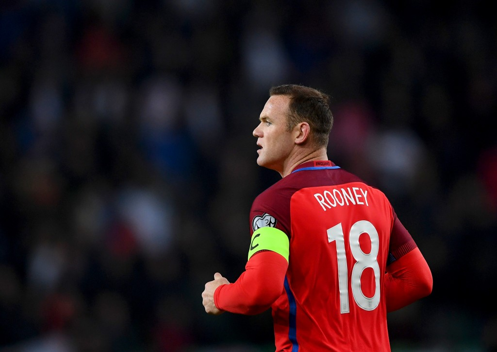 LJUBLJANA, SLOVENIA - OCTOBER 11: Wayne Rooney of England looks on during the FIFA 2018 World Cup Qualifier Group F match between Slovenia and England at Stadion Stozice on October 11, 2016 in Ljubljana, Slovenia. (Photo by Laurence Griffiths/Getty Images)