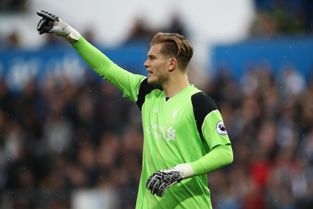 SWANSEA, WALES - OCTOBER 01: Loris Karius of Liverpool gives his defenders instructions during the Premier League match between Swansea City and Liverpool at Liberty Stadium on October 1, 2016 in Swansea, Wales. (Photo by Julian Finney/Getty Images)