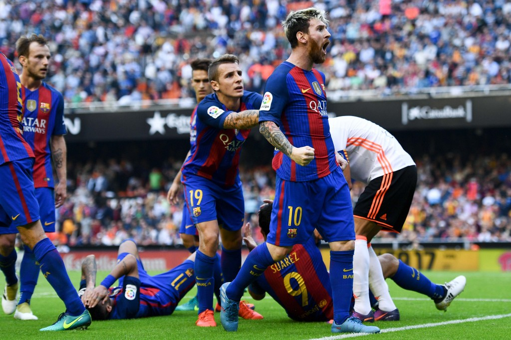 Lionel Messi was Barcelona's saviour in the reverse fixture. (Photo courtesy - David Ramos/Getty Images)
