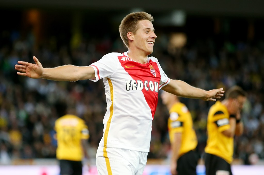 BERN, SWITZERLAND - JULY 28: Mario Pasalic of AS Monaco celebrates after scoring his team's third goal during the UEFA Champions League third qualifying round 1st leg match between BSC Young Boys and AS Monaco at Stade de Suisse on July 28, 2015 in Bern, Switzerland. (Photo by Philipp Schmidli/Getty Images)