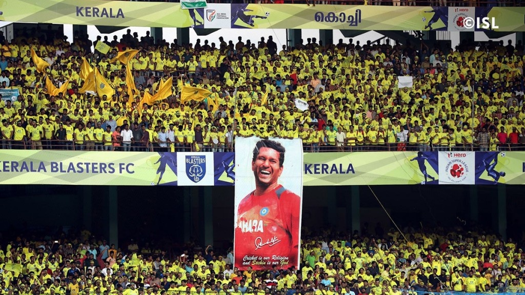 A Packed Jawaharlal Nehru Stadium, Kerala. Courtesy: ISL