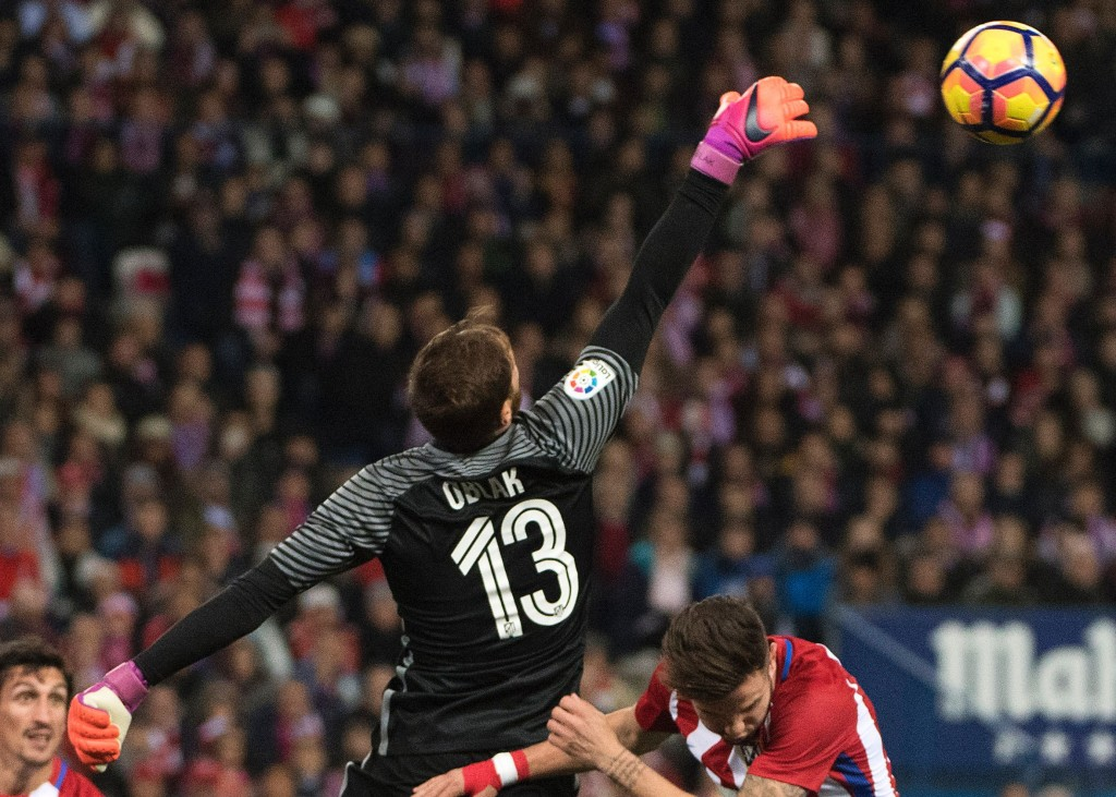 Saving Atletico Madrid, one penalty at a time. (Picture Courtesy - AFP/Getty Images)